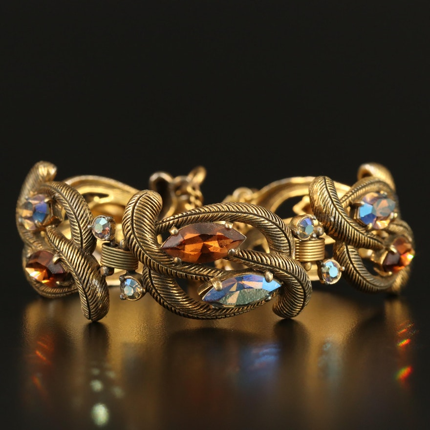 Vintage Schiaparelli Rhinestone Bracelet