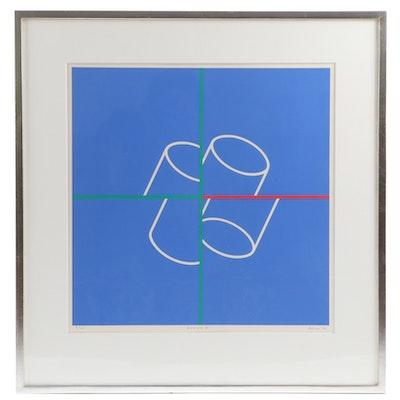 """Yutaka Funai Serigraph """"Rondo V"""", 1971"""