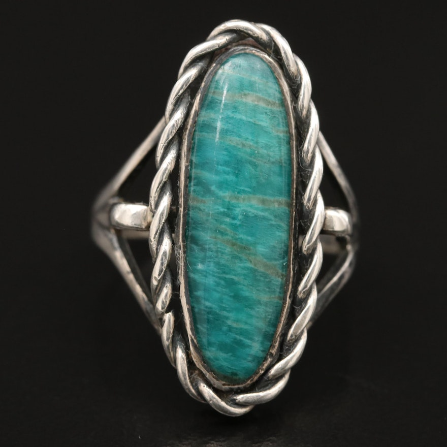 Sterling Silver Amazonite Ring