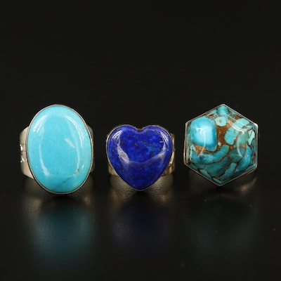 Desert Rose Trading Sterling Gemstone Rings