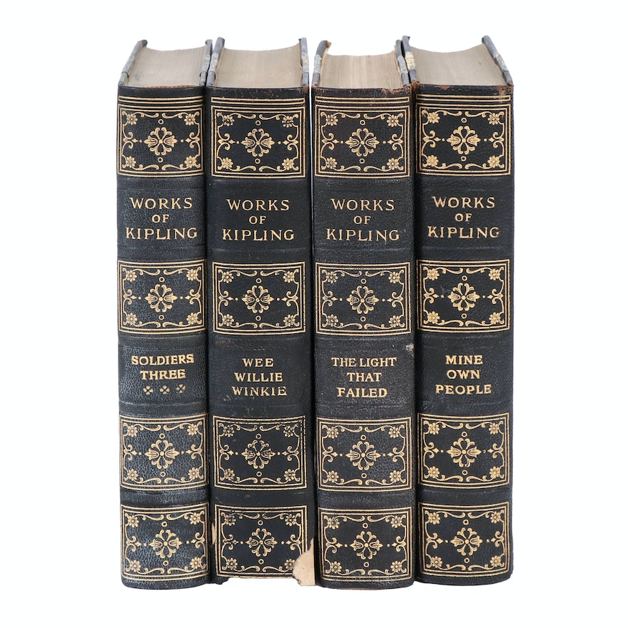 """The Works of Rudyard Kipling"" Edition de Luxe Partial Set, circa 1915"