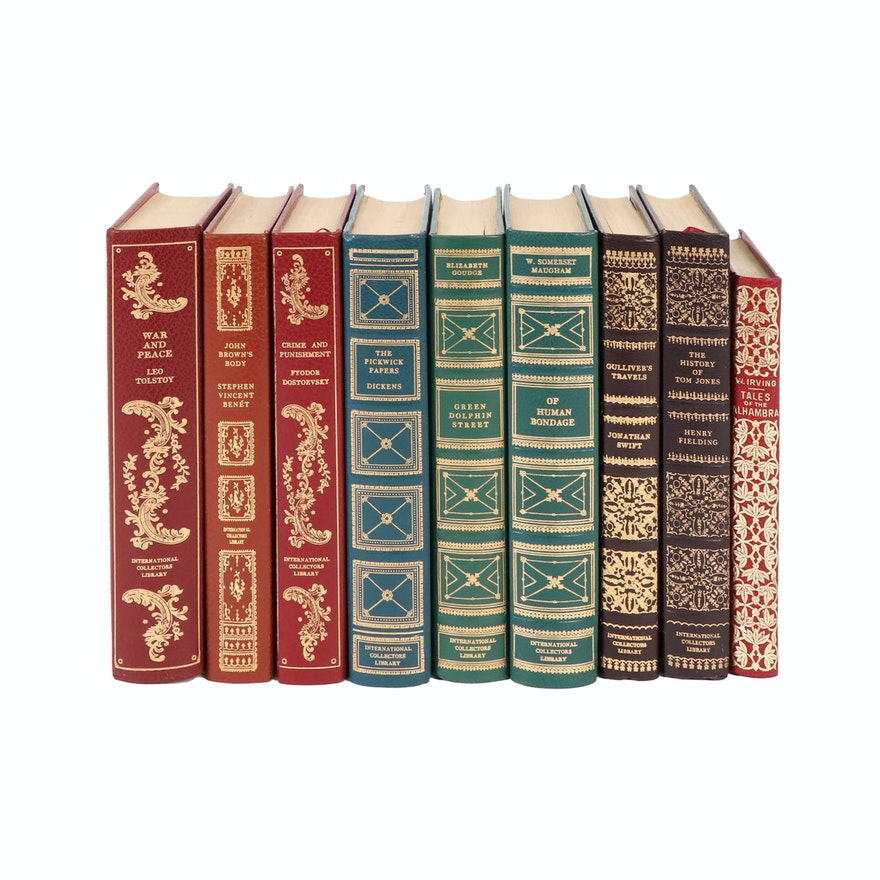 International Collector's Library Fiction Books Including Tolstoy and Dickens