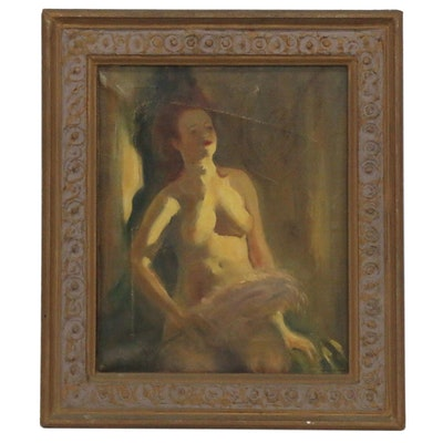 Oil Painting of Female Nude, Late 19th to Early 20th Century