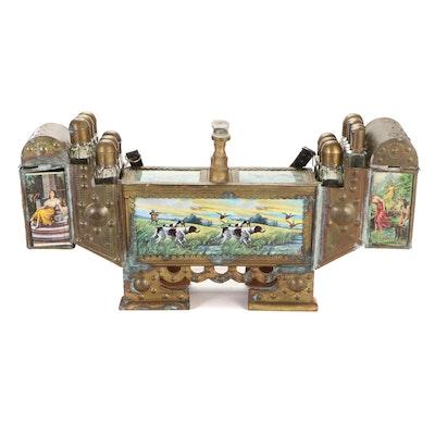 Embossed Brass Turkish Shoeshine Kit