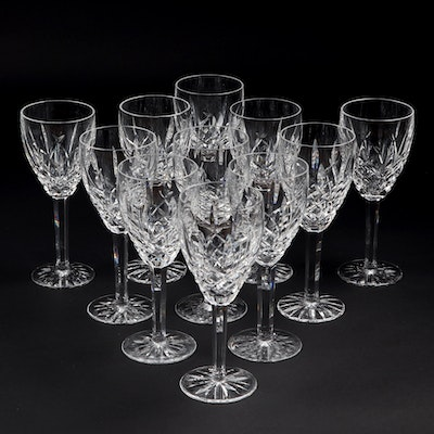 "Waterford Crystal ""Araglin"" Wine Glasses"