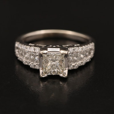 14K 1.85 CTW Diamond Ring with 1.07 CT Center