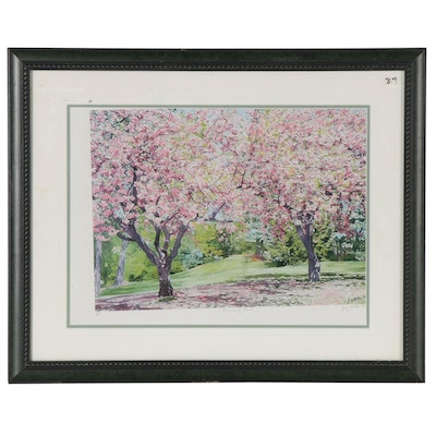 "Josy Hilkes Britton Offset Lithograph ""Promise of Fruit,"" 21st Century"