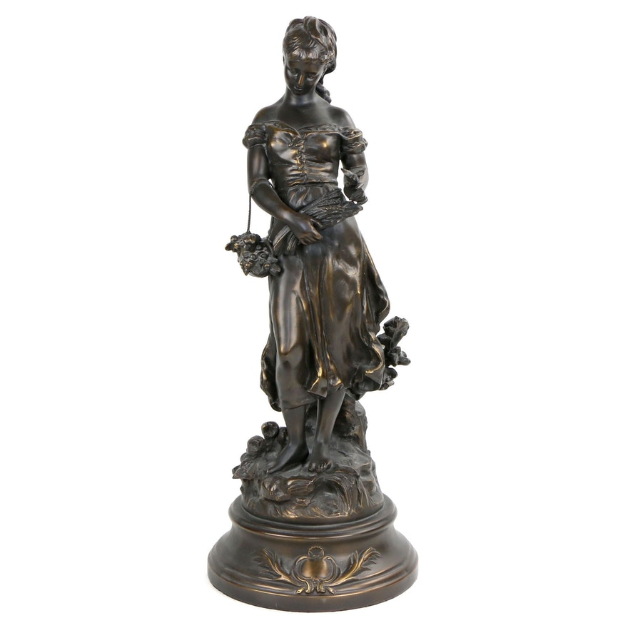 Collection Francaise Bronze-Coated Sculpture after L & F Moreau Studio