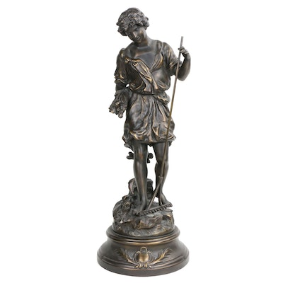 Collection Francoise Bronze-Coated Statue after Auguste Moreau