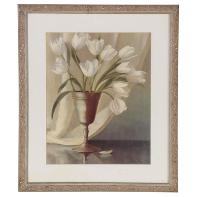 Offset Lithograph of Still Life Tulips, 21st Century