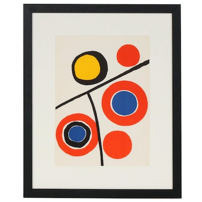 "Alexander Calder Color Lithograph for ""Derriere le Miroir"", 1973"