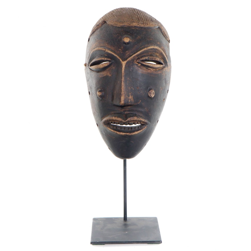 Central African Hand-Carved Wood Mask