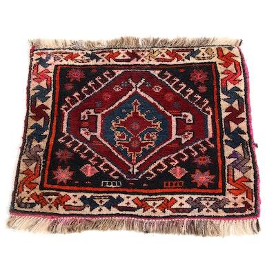 2'2 x 2'4 Hand-Knotted Persian Qashqai Shiraz Rug, 1950s