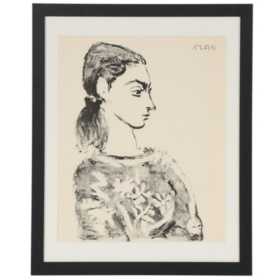 "Lithograph after Pablo Picasso ""Woman With Flowered Bodice"", 1959"