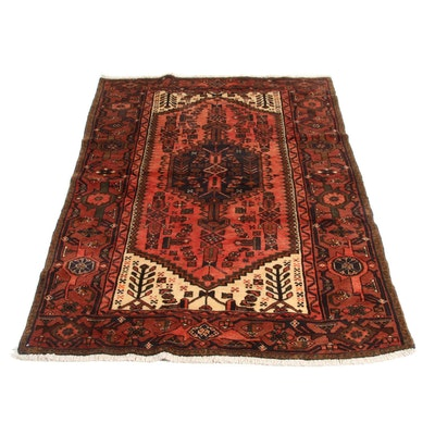 4'3 x 6'6 Hand-Knotted Persian Malayer Rug, 1970s
