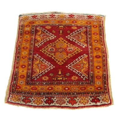 2'5 x 3'3 Hand-Knotted Turkish Caucasian Kazak Rug, 1900s