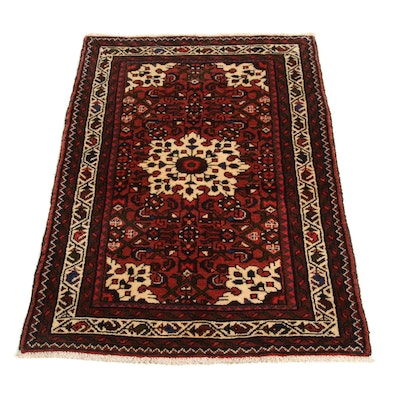 2'7 x 4'2 Hand-Knotted Persian Malayer Rug, 1970s