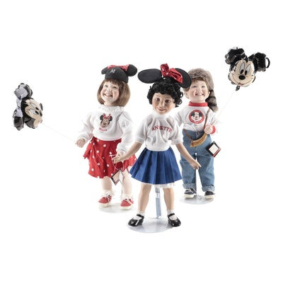 "The Ashton-Drake Galleries ""Walt Disney World Boy and Girl"" Dolls"