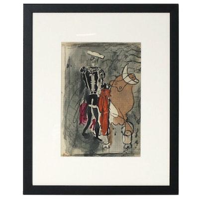 "Georges Braque Color Lithograph for ""Verve,"" 1955"