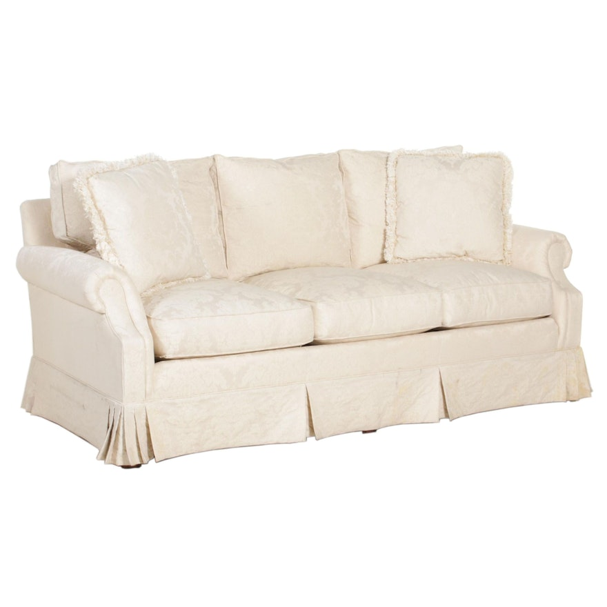 "Hickory Chair Company ""Sovereign Collection"" Cream Upholstered Sofa"