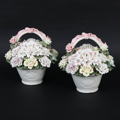 Delicate Italian Porcelain Bouquets, Mid to Late 20th Century