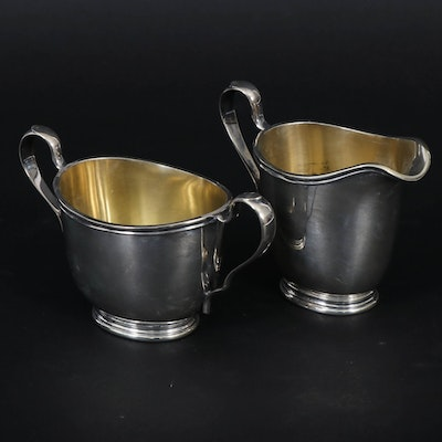 International Sterling Silver Sugar and Creamer Set