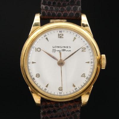 1948 Longines Cuervo Y Sabrinos Co-Signed 18K Stem Wind Wristwatch
