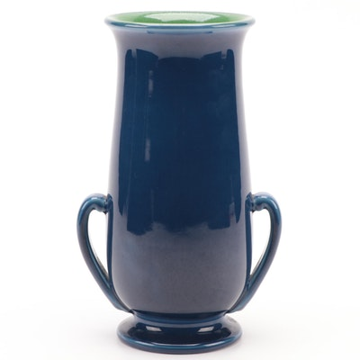 Rookwood Pottery Art Deco Blue and Green High Gloss Glaze Vase, 1929