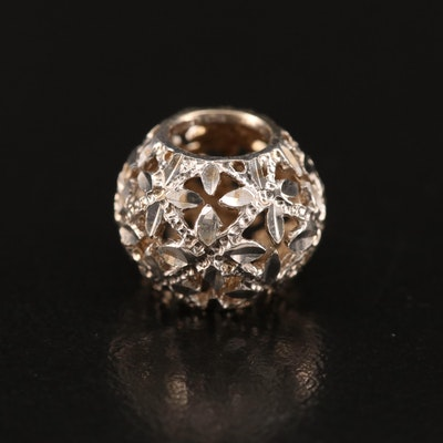 14K Diamond Cut Bead