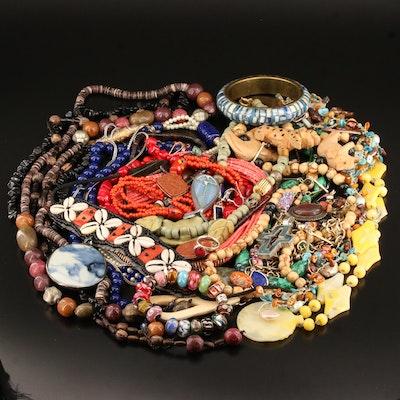 Assortment of Jewelry Featuring Pandora Bracelet