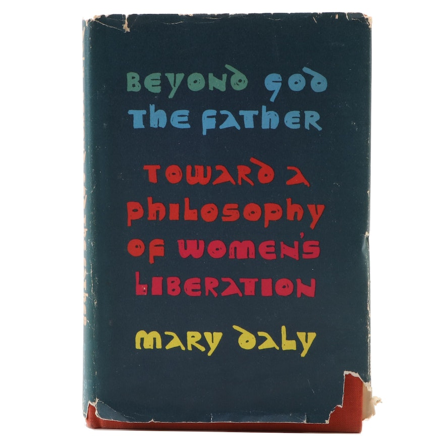 """Signed First Edition """"Beyond God the Father"""" by Mary Daly, 1973"""