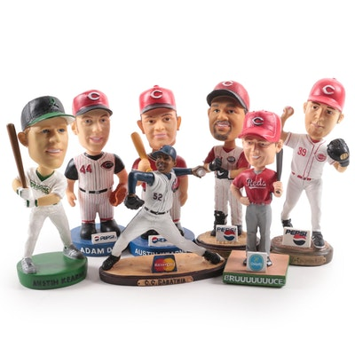 Cincinnati Reds, Dayton Dragons, Cleveland Indians Bobbleheads and Figurine
