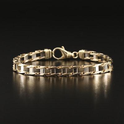 10K Two-Tone Link Bracelet