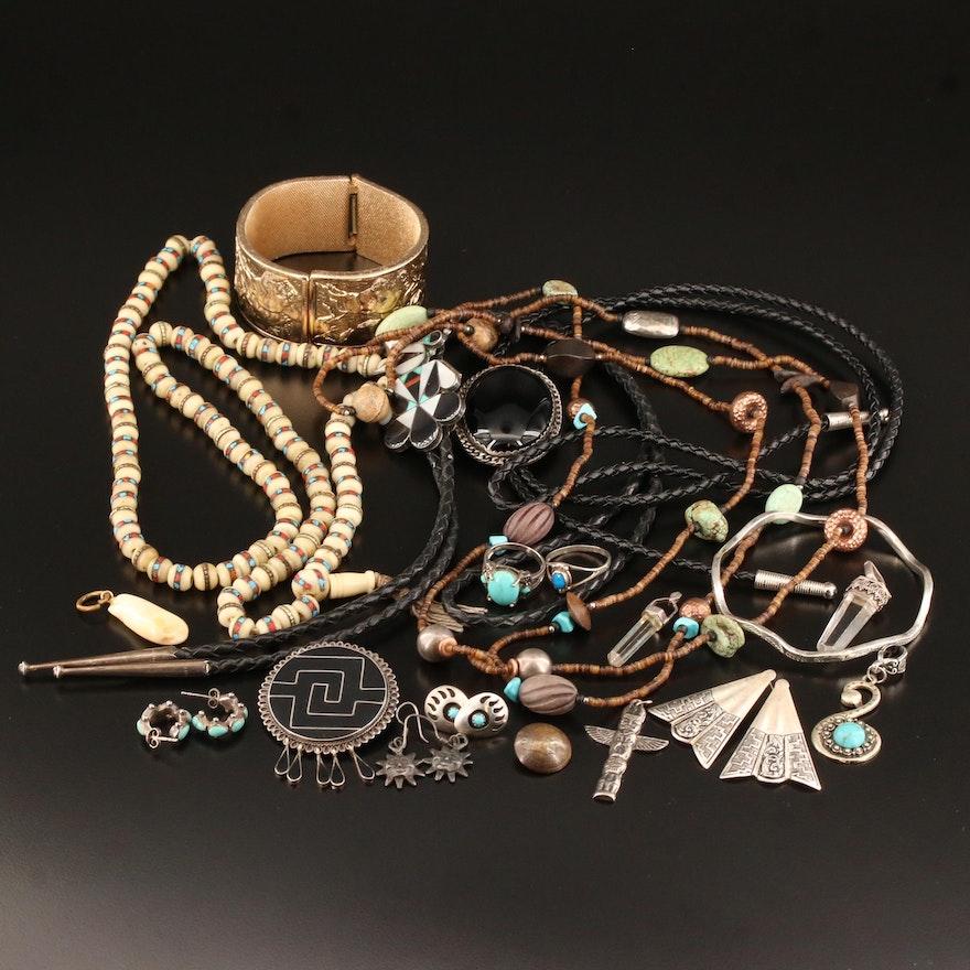 Southwestern Style Jewelry Selection Featuring Zuni, Silpada and Crumrine