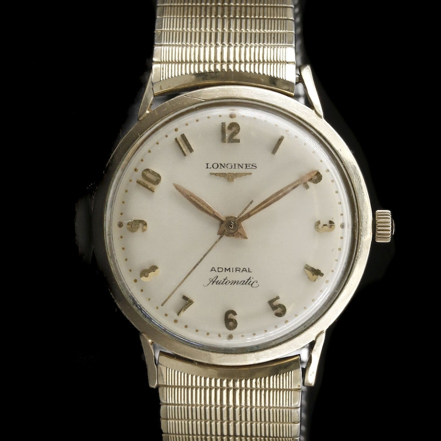"Vintage Longines ""Admiral"" 10K Gold Filled Automatic Wristwatch"