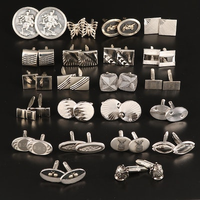 Vintage Cufflinks Collection Featuring Hickok and Sterling Silver