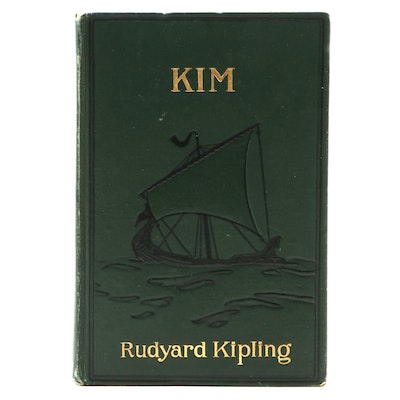 "First American Edition ""Kim"" by Rudyard Kipling, 1901"