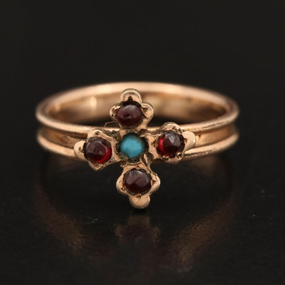 Victorian Garnet and Glass Ring