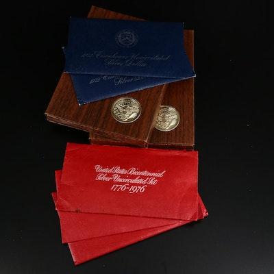 Uncirculated Silver Bicentennial Coins and Eisenhower Dollars