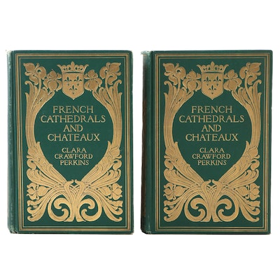 "First Edition ""French Cathedrals and Chateaux"" Two-Volume Set, 1903"