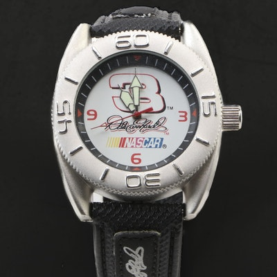 Dale Earnhardt #3 NASCAR Wristwatch in Metal Box, Vintage