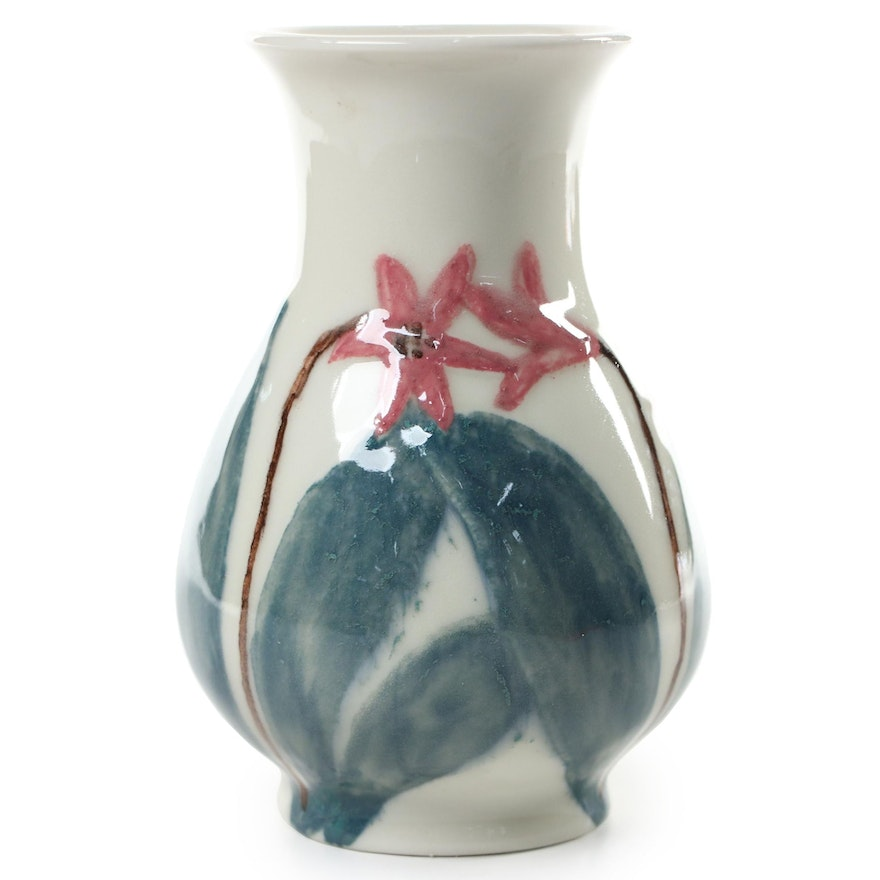 Rookwood Pottery Production Vase with Floral Motif, 1945