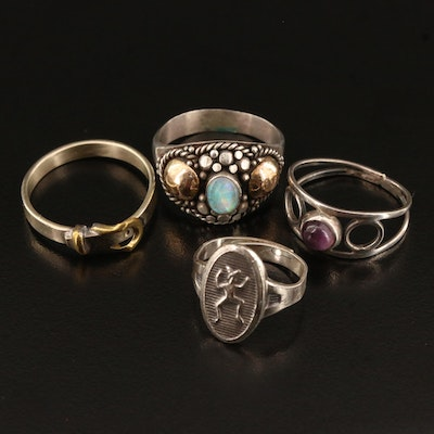 Selection of Rings Featuring Mexican Sterling