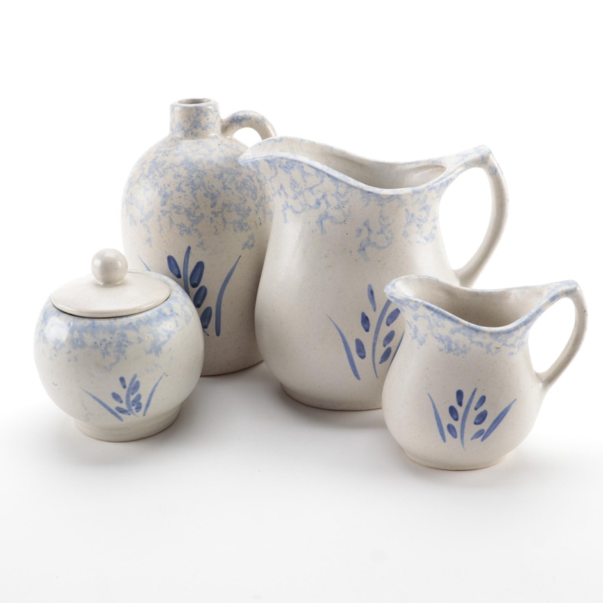 Robinson Ransbottom Pottery Wheat Blue Spongewear Kitchen Accessories