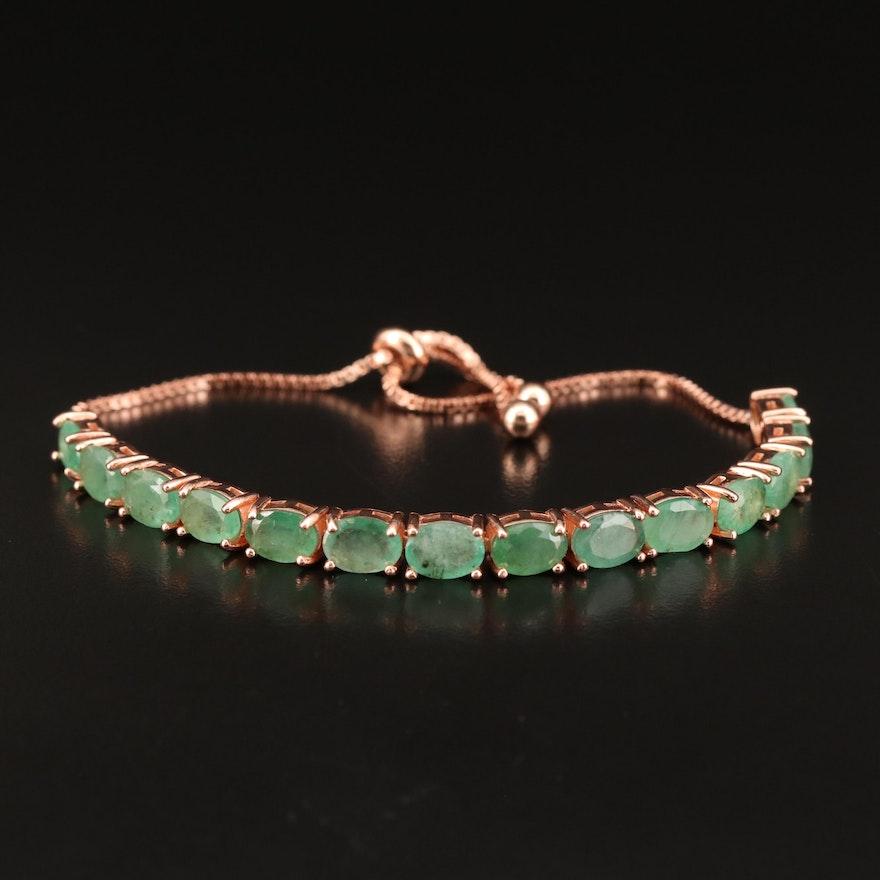 Sterling Emerald Bolo Bracelet