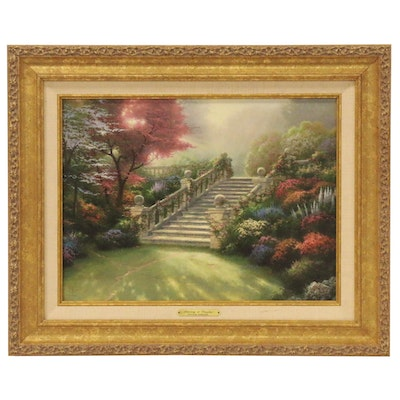 """Offset Lithograph after Thomas Kinkade """"Stairway to Paradise,"""" 2002"""
