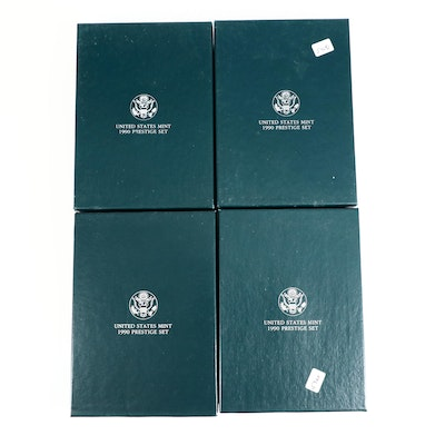 Four 1990 U.S. Mint Prestige Proof Sets