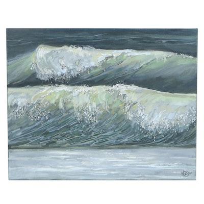 "Monica Cascio Oil Painting ""Sea Spray,"" 2020"