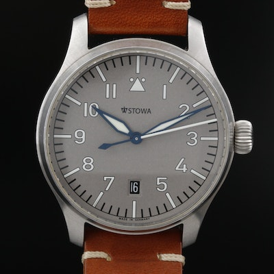 "Stowa ""Flieger Ikarus"" Stainless Steel Automatic Wristwatch"