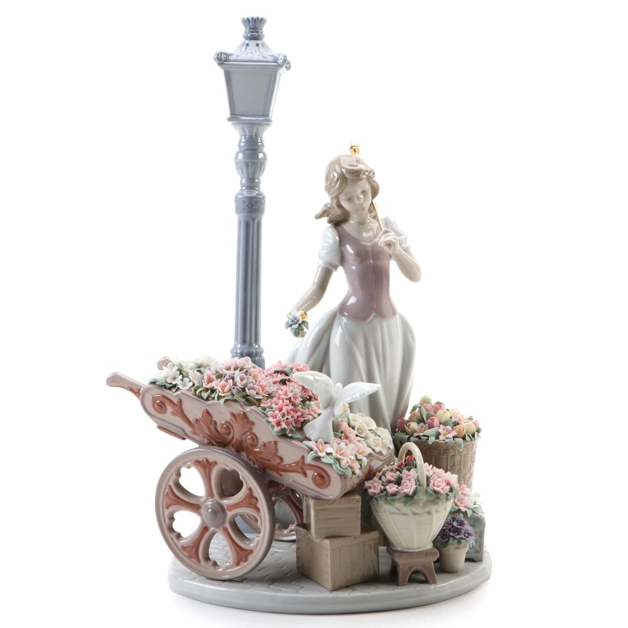 "Signed Lladró ""Flowers for Everyone"" Porcelain Figurine, 2010"